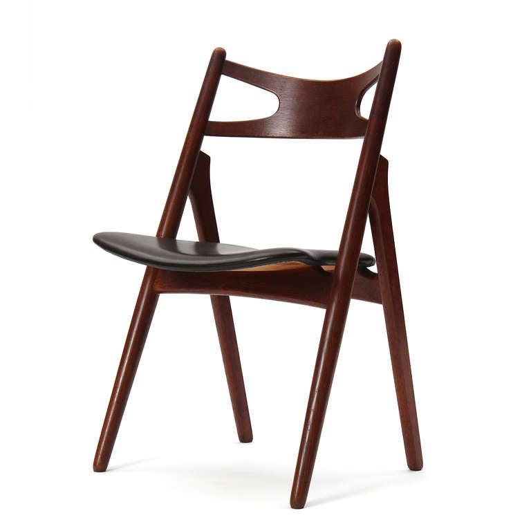 Mid-Century Modern Sawbuck Chairs by Hans J. Wegner For Sale