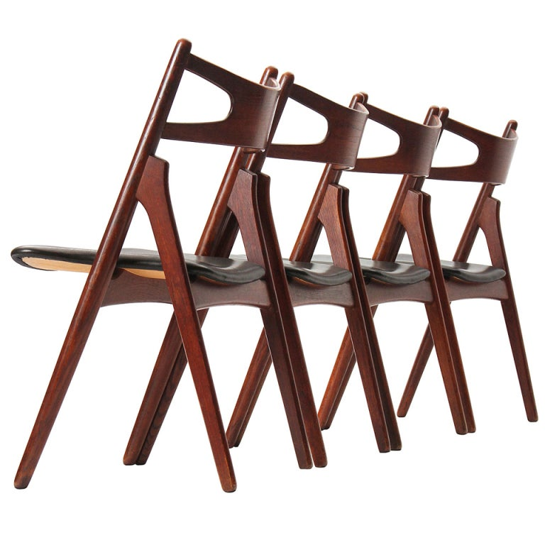 Sawbuck Chairs by Hans J. Wegner For Sale