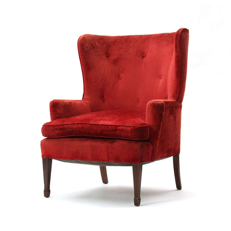 new photograph of wingback chair for sale