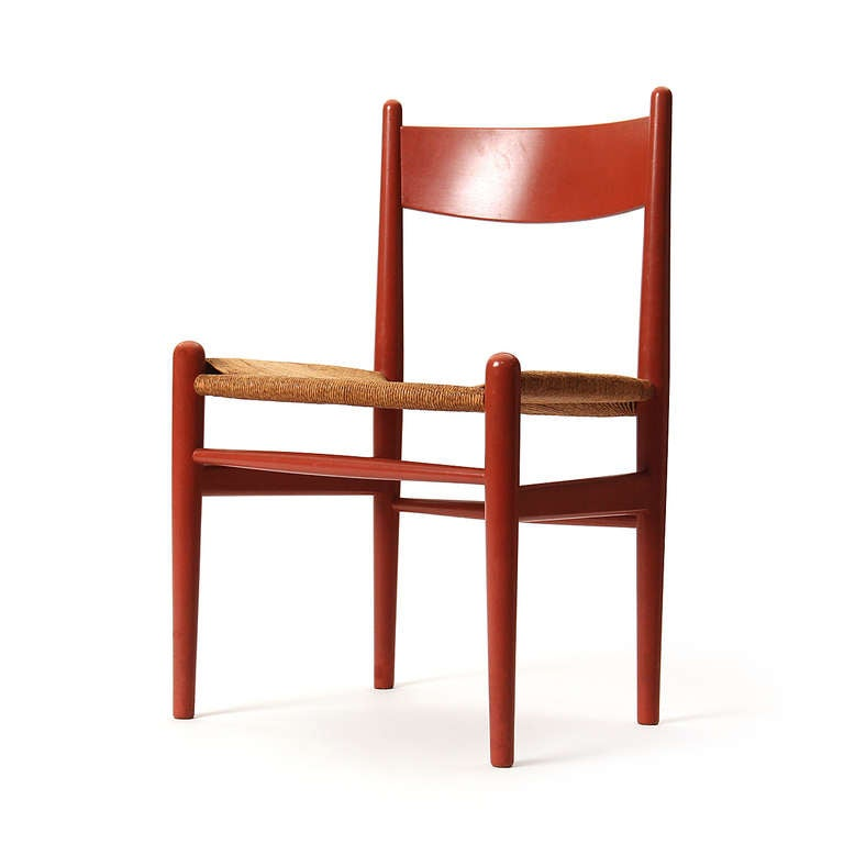 Oak and Papercord Chairs by Hans J. Wegner 4