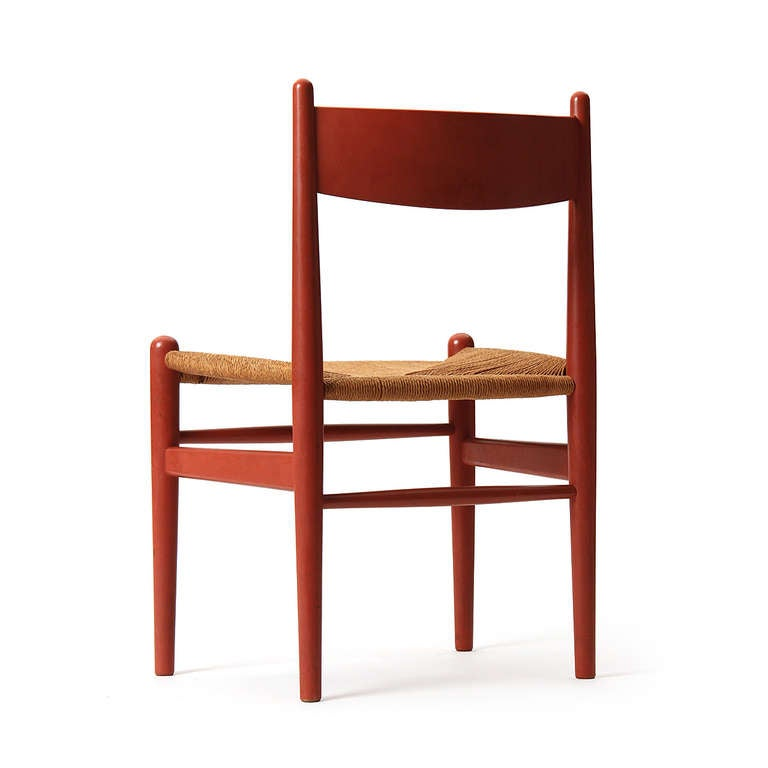 Oak and Papercord Chairs by Hans J. Wegner 6