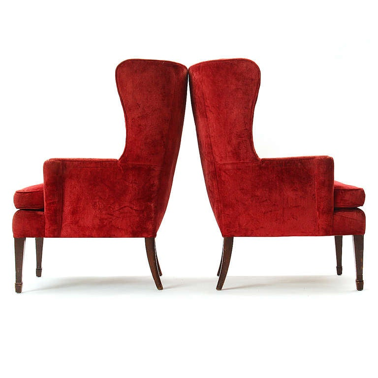 Pair of Wingback Chairs 7