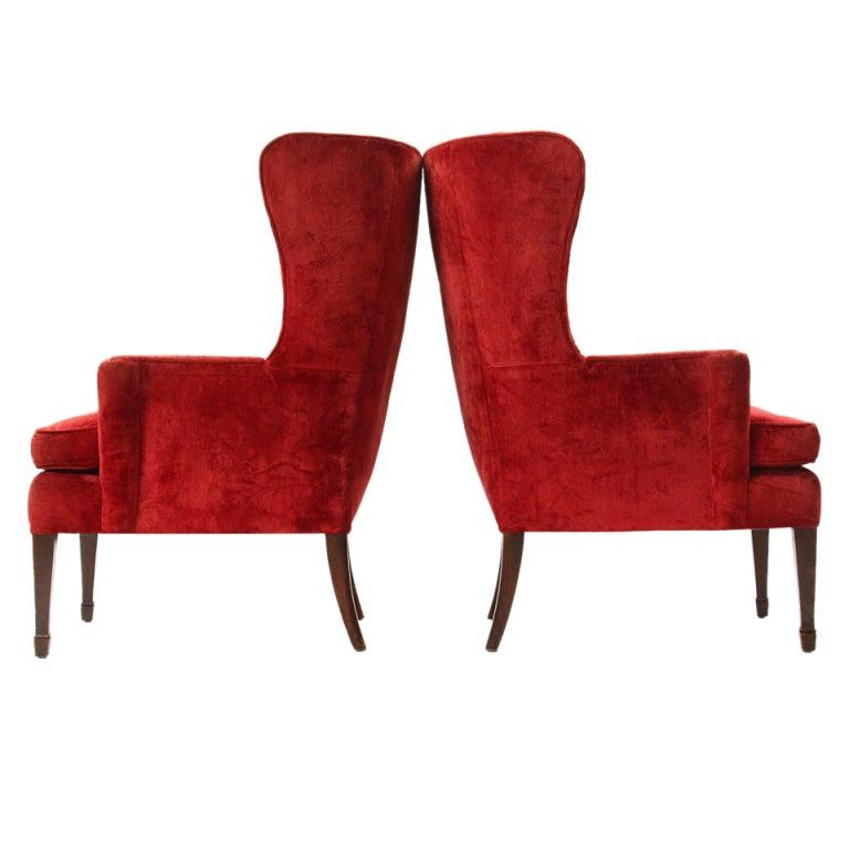 Pair of Wingback Chairs 1
