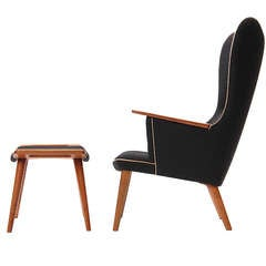 highback lounge chair by Hans J. Wegner