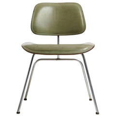 Leather DCM Chair by Charles and Ray Eames