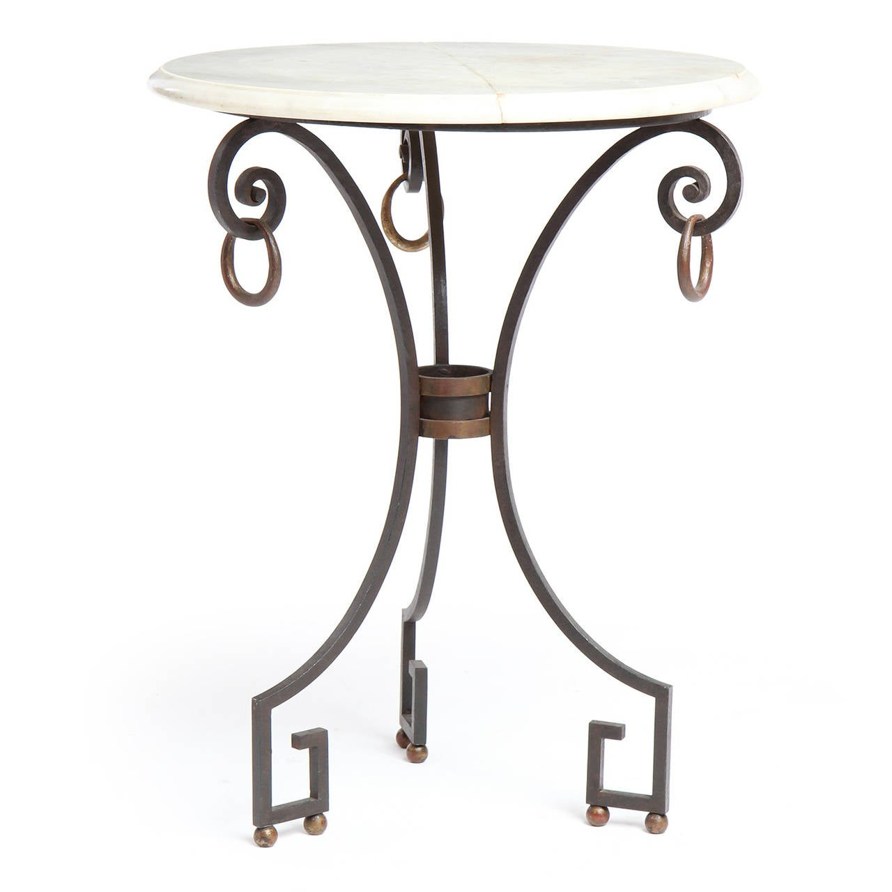 Marble-Top Occasional Table For Sale 1