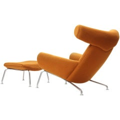 Ox Chair and Ottoman by Hans J. Wegner