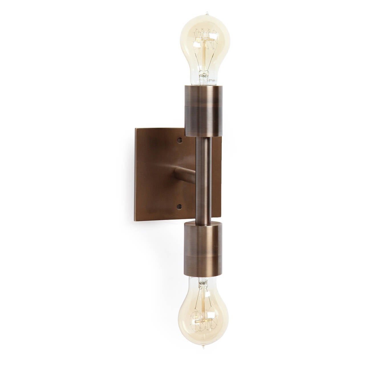 Wyeth Original Double Wall Sconce in Patinated Brass In Excellent Condition For Sale In Sagaponack, NY