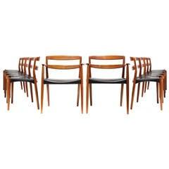Set of 12 Dining Chairs by Ejner Larsen & Aksel Bender Madsen