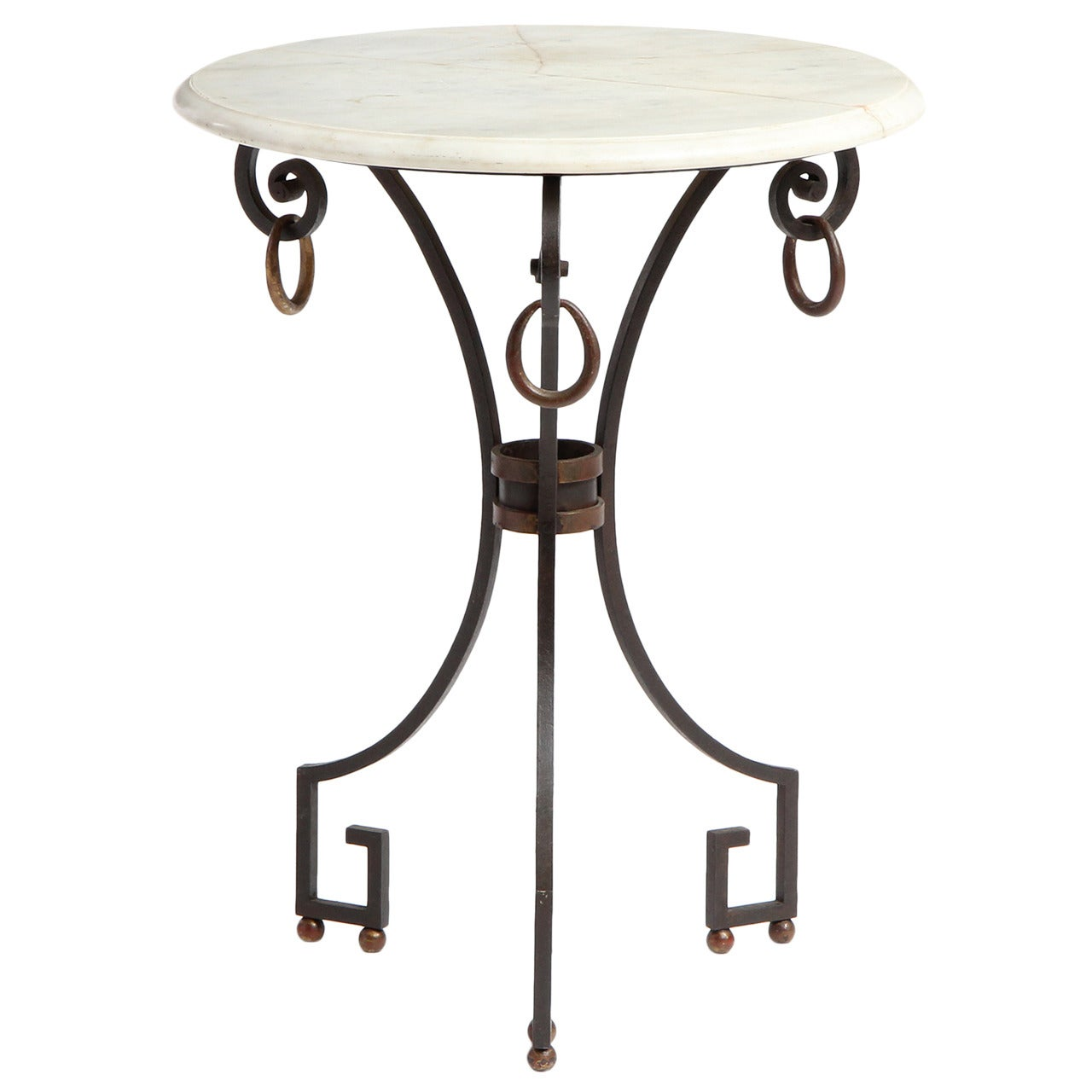 Marble-Top Occasional Table