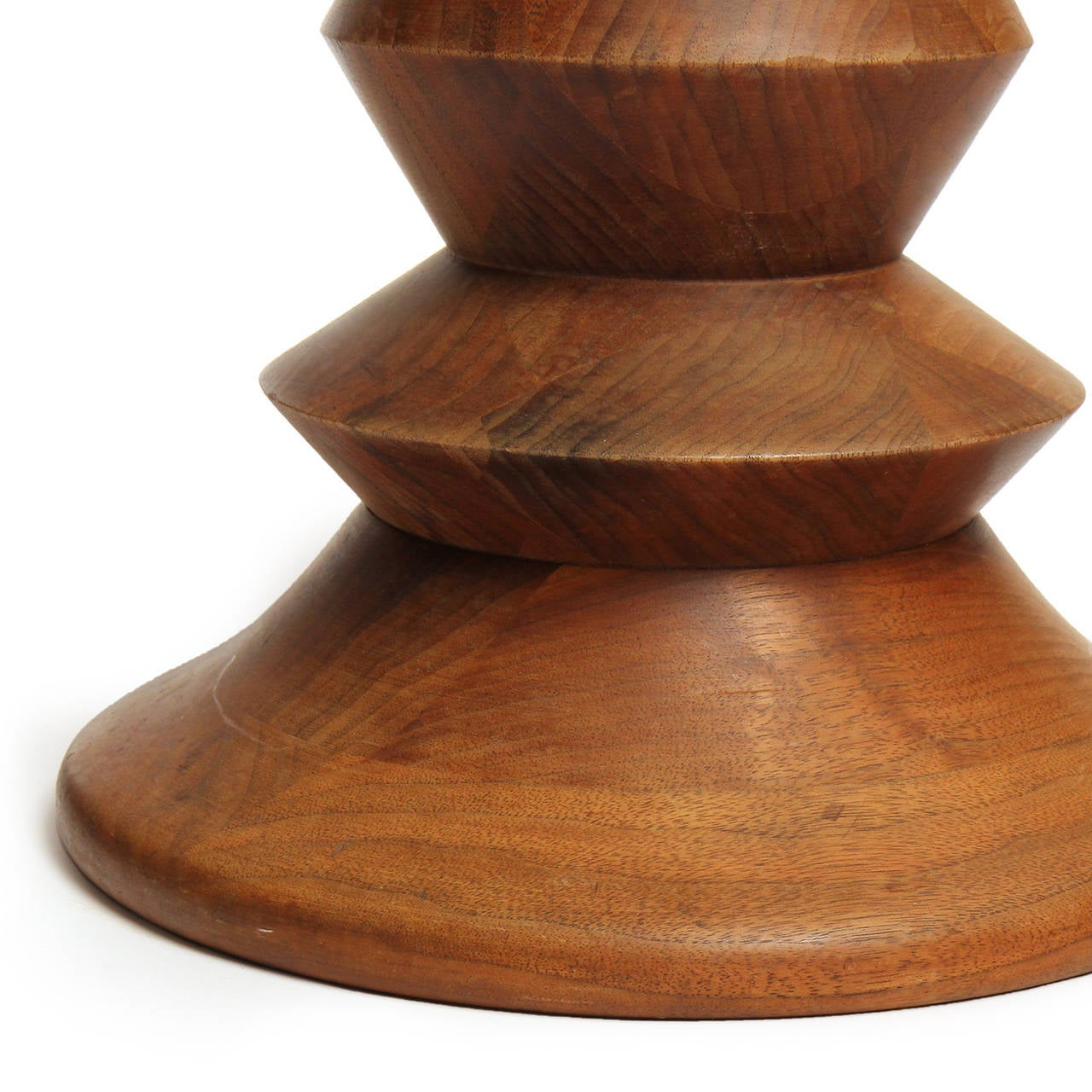 Turned Walnut Stool By Charles And Ray Eames For Sale At
