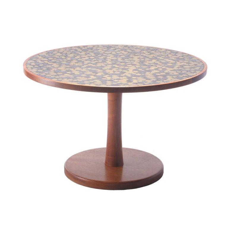 Ceramic tile top center table by gordon martz for sale at 1stdibs - Ceramic pedestal table base ...