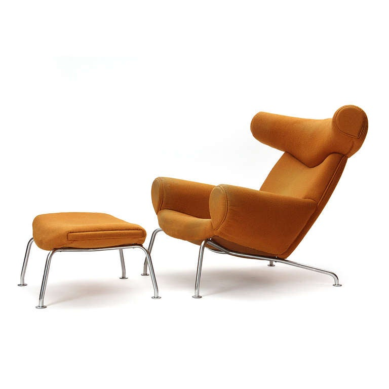 Ox Chair And Ottoman By Hans J Wegner At 1stdibs