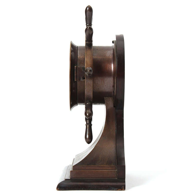American 1930s Nautical Clock by Chelsea Clock Company for Bigelow Kennard & Co. For Sale