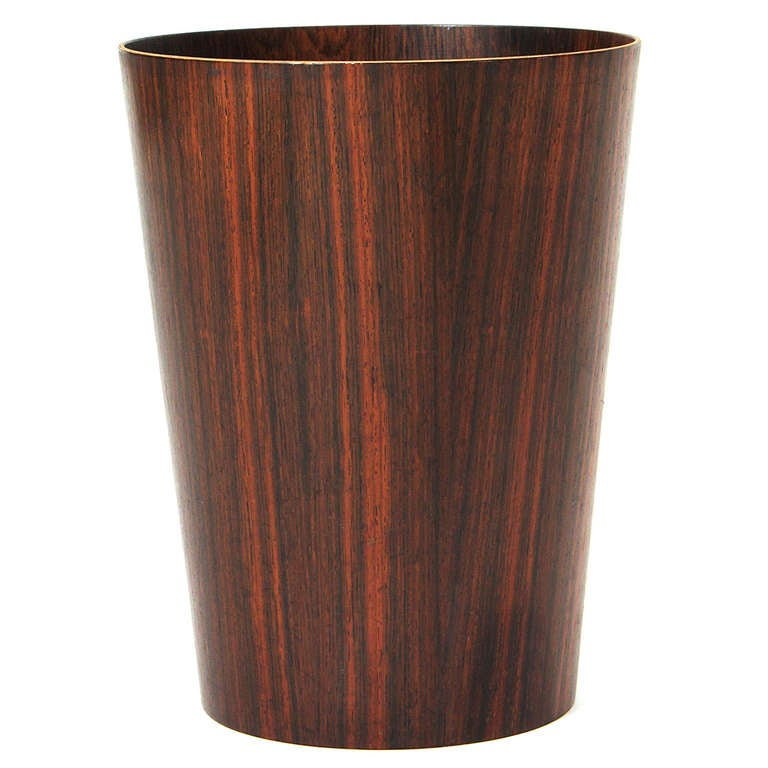 Rosewood waste basket at 1stdibs - Elegant wastebasket ...