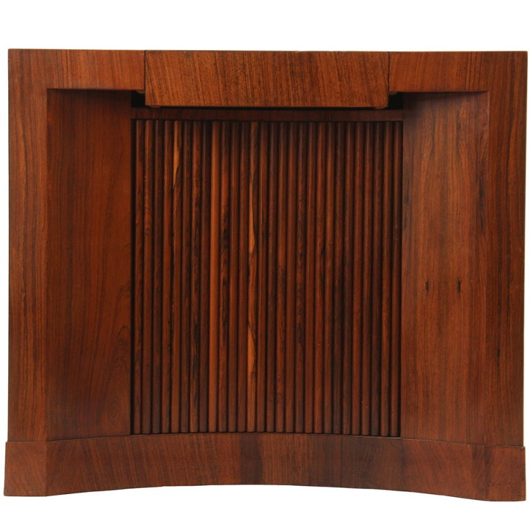 Tambour Door Console by Edward Wormley