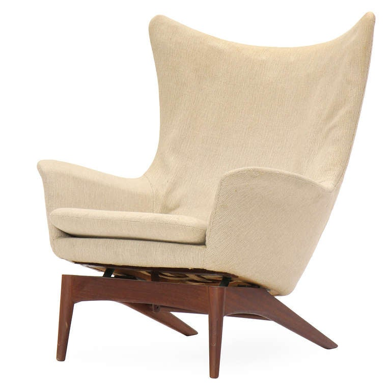 luxury image of reclining wingback chair