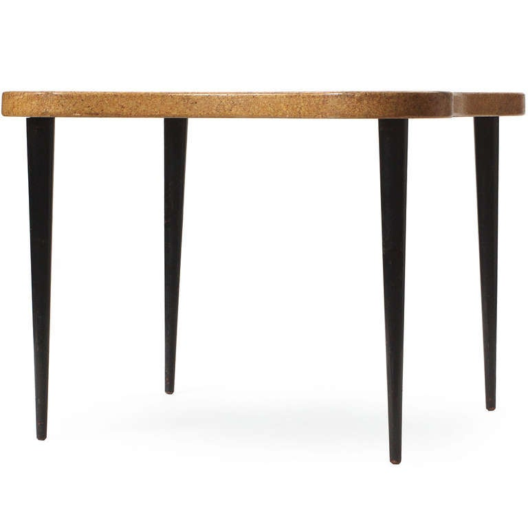 Cork Furniture: Cork-Topped Table By Paul Frankl For Johnson Furniture Co