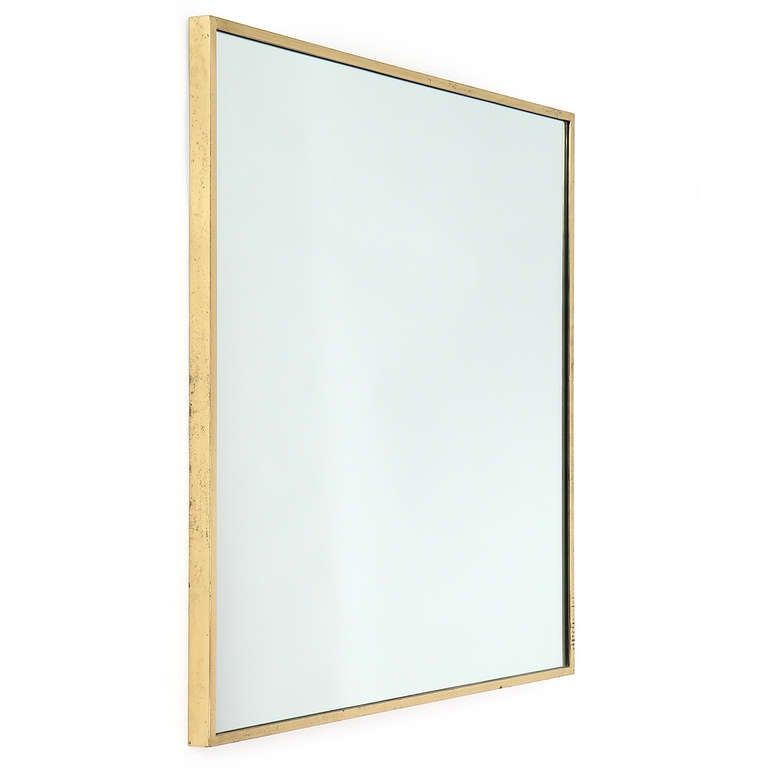 Thin edged brass mirror by edward wormley for sale at 1stdibs for Thin wall mirror