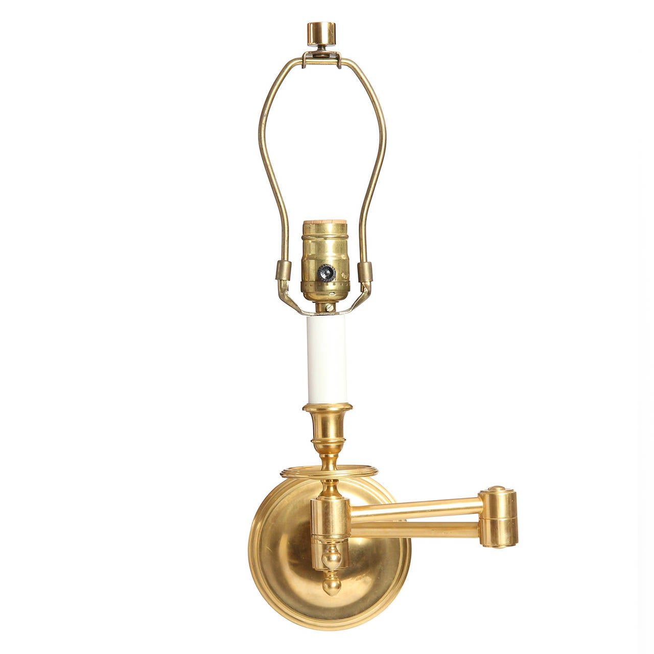 Brass Swing Arm Wall Sconces at 1stdibs