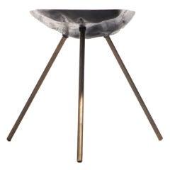 Brass Leg Log Table by Carl Aubock