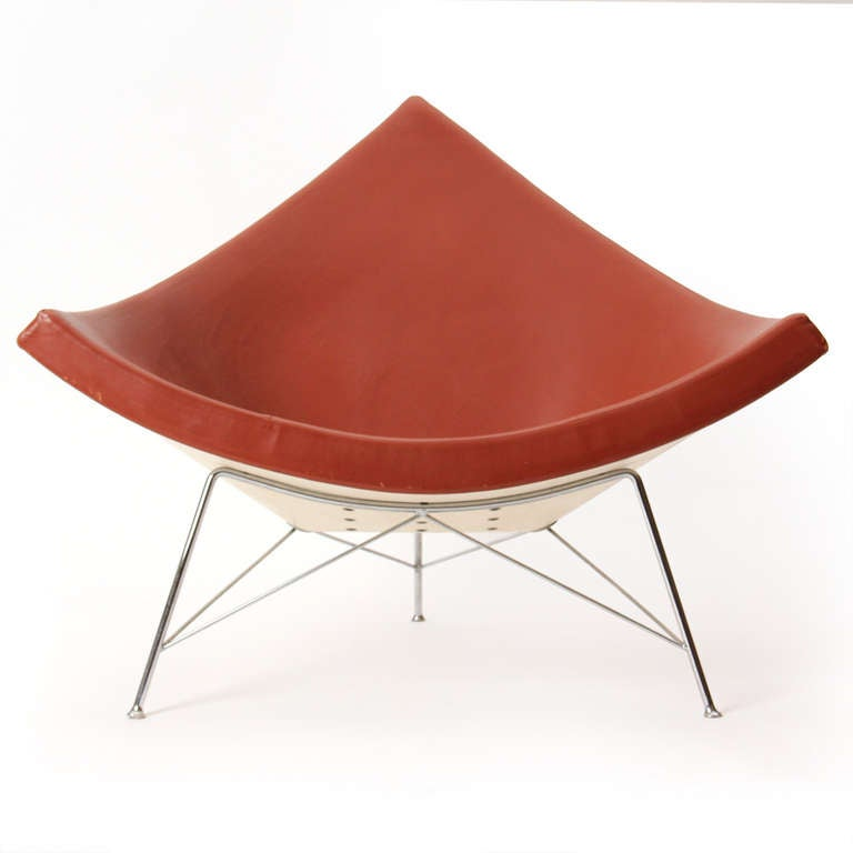 Mid-Century Modern 1950s Coconut Lounge Chair by George Nelson for Herman Miller For Sale
