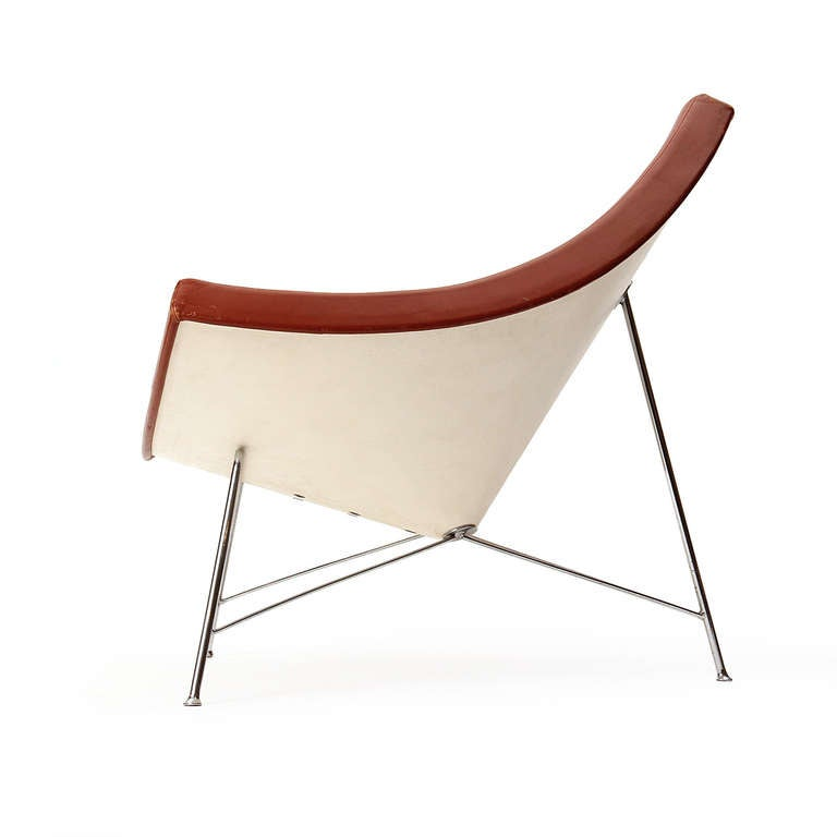 American 1950s Coconut Lounge Chair by George Nelson for Herman Miller For Sale