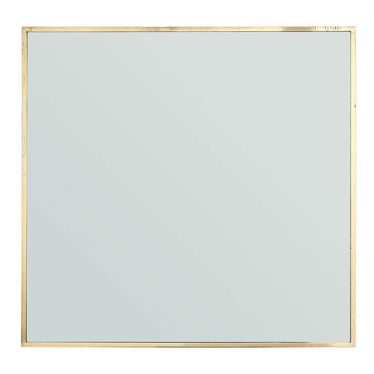 Thin-Edged Brass Mirror by Edward Wormley