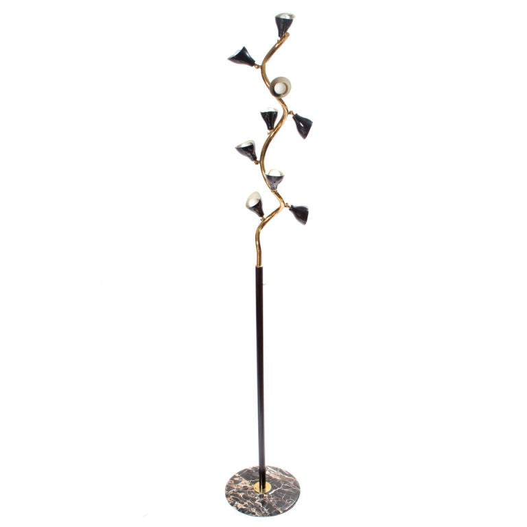 The vine floor lamp by gino sarfatti at 1stdibs for Floor lamp with vines
