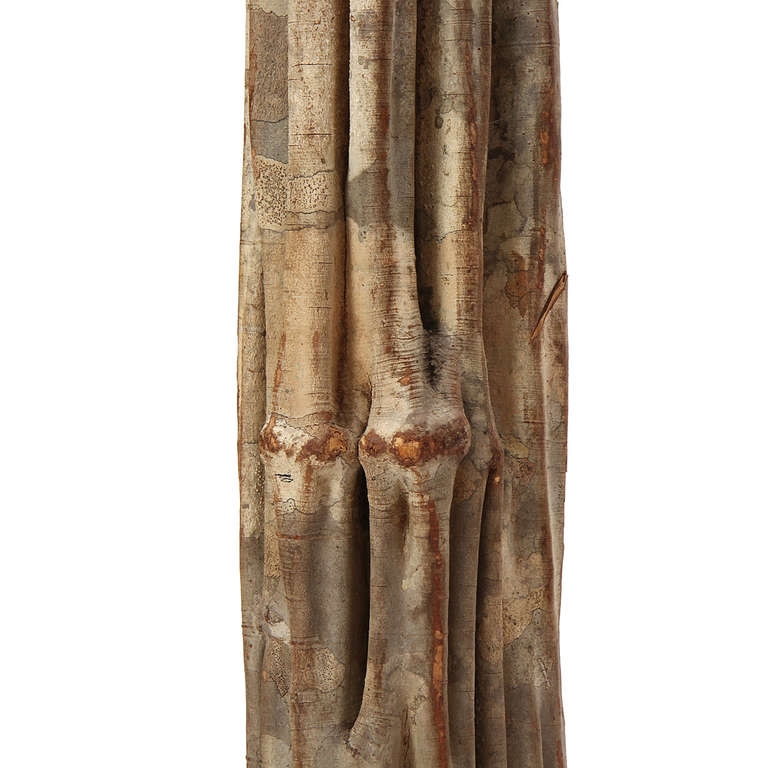 Mid-20th Century 1960s Freestanding Tropical Hardwood Tree Sculptures For Sale