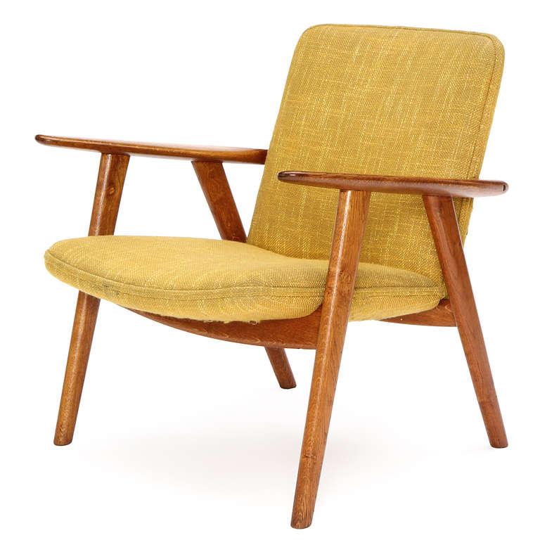 Danish Oak Reading Chair by Hans J. Wegner For Sale