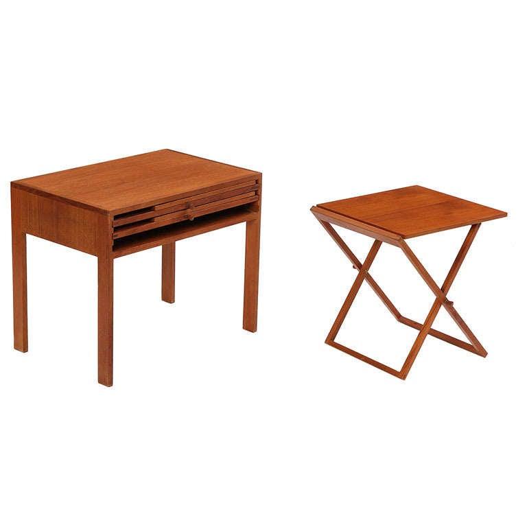 folding tables by illum wikkelso for sale at 1stdibs. Black Bedroom Furniture Sets. Home Design Ideas