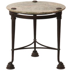 Neoclassical Marble And Bronze Side Table