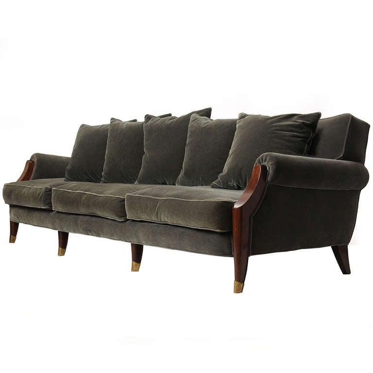 art deco sofa at 1stdibs. Black Bedroom Furniture Sets. Home Design Ideas