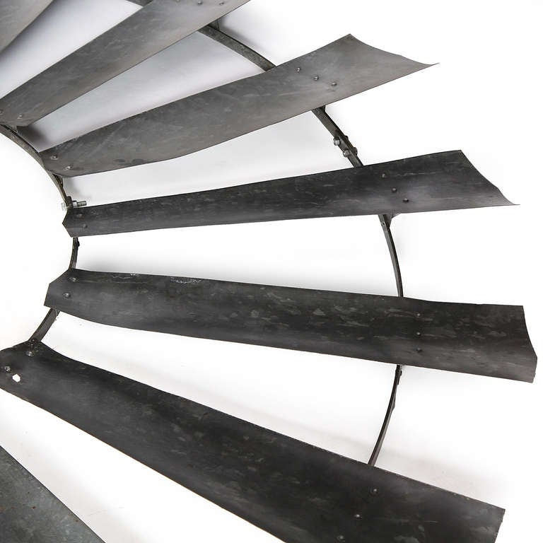 Galvanized Wind Turbine Blades In Good Condition For Sale In New York, NY