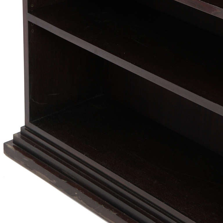 1930s Unattributed French Modernist Rosewood Bookcase For Sale 4