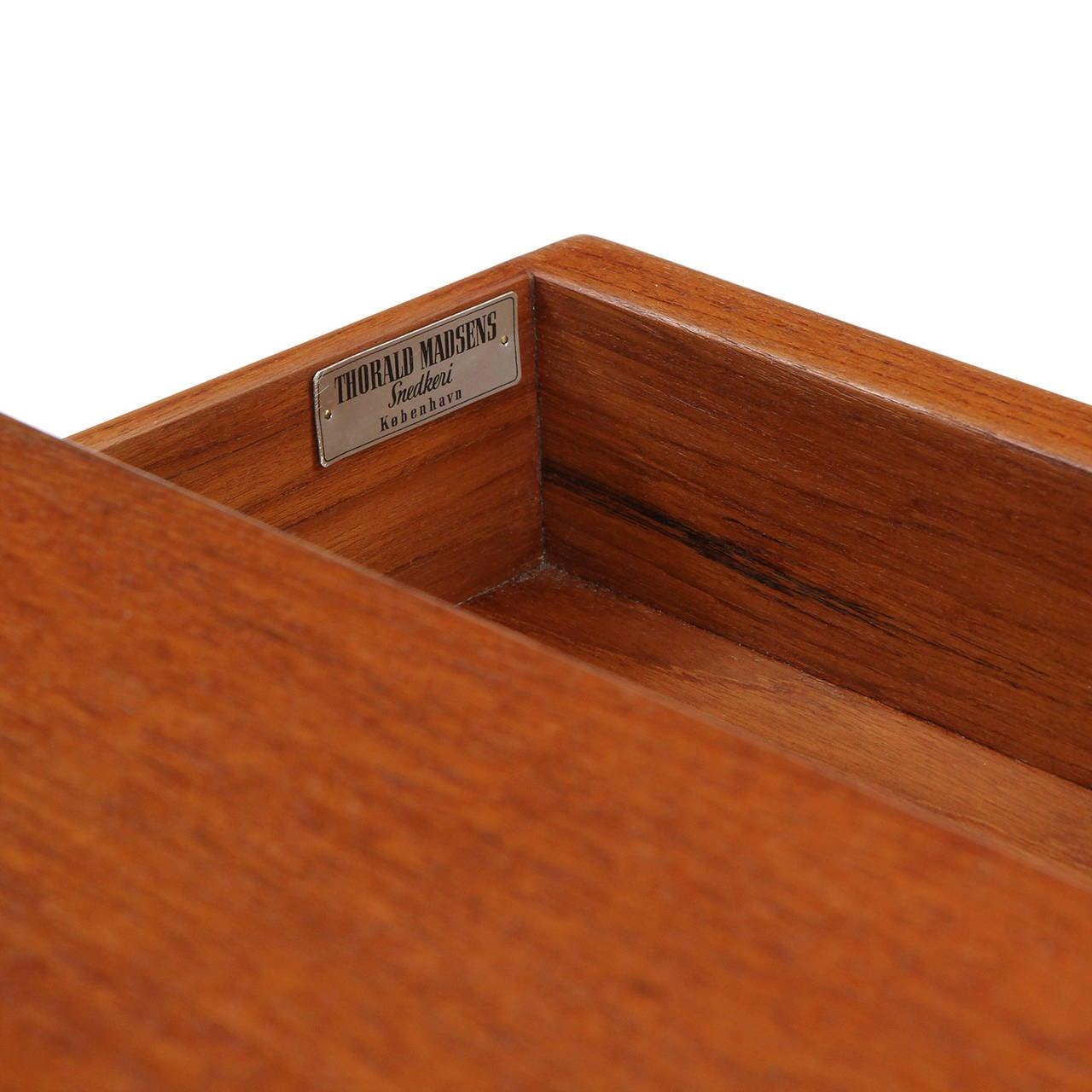 Teak Writing Desk by Tove & Edvard Kindt-Larsen For Sale 3