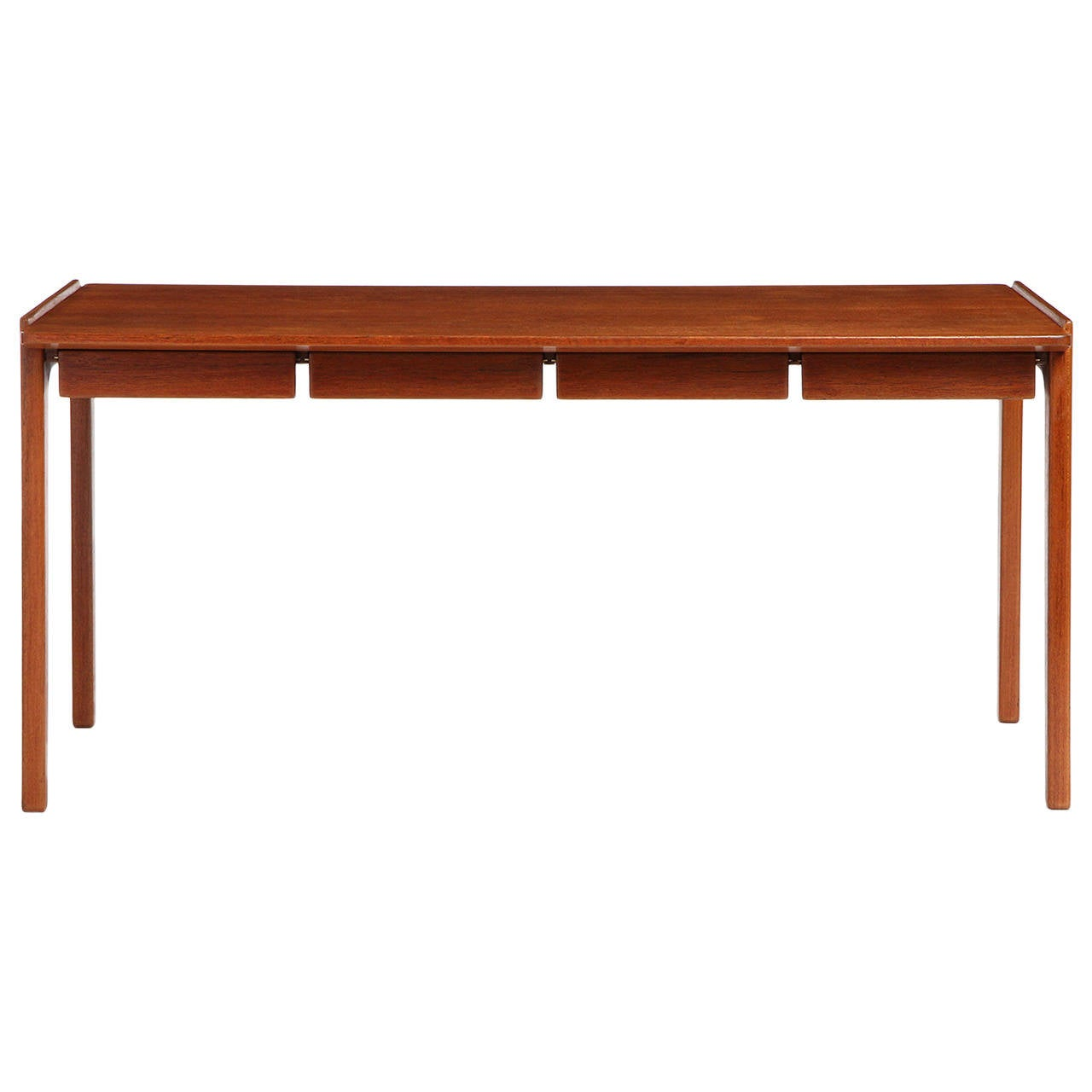 Teak Writing Desk by Tove & Edvard Kindt-Larsen For Sale