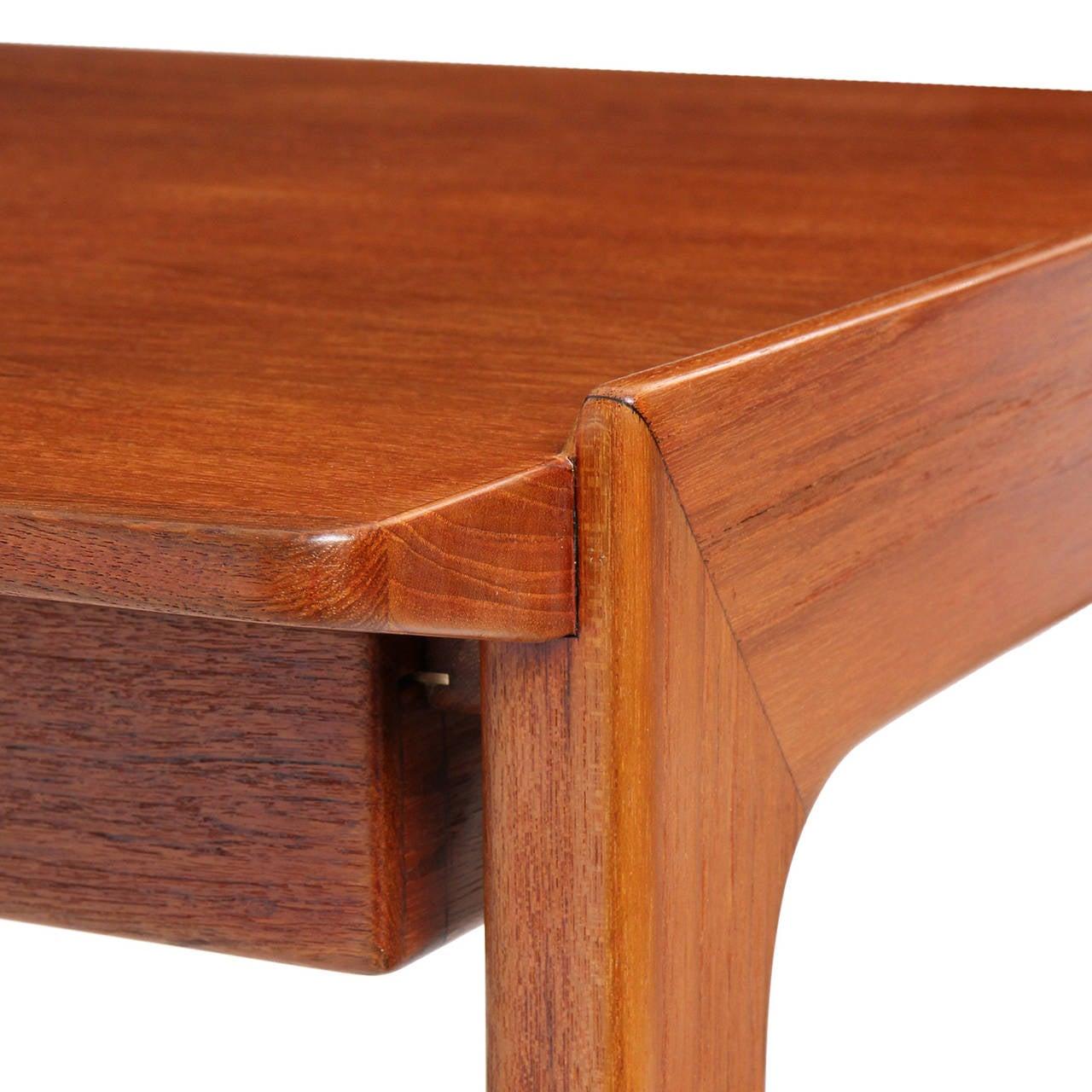 Danish Teak Writing Desk by Tove & Edvard Kindt-Larsen For Sale