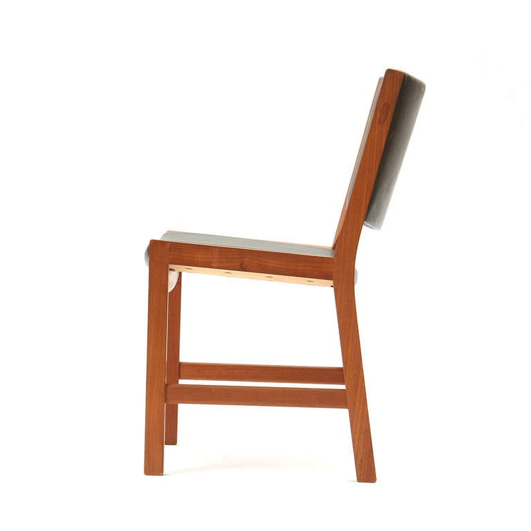 Danish Set of Four Teak Dining Chairs by Hans Wegner For Sale
