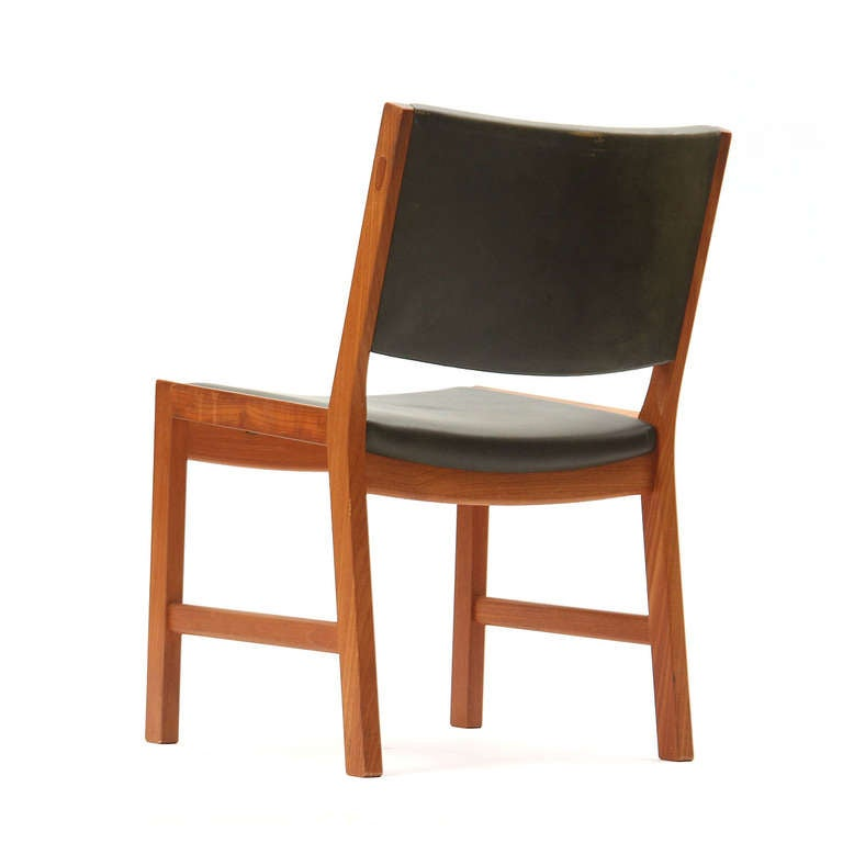 Set of Four Teak Dining Chairs by Hans Wegner In Good Condition For Sale In New York, NY