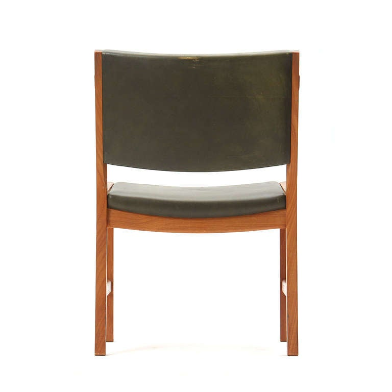 Mid-20th Century Set of Four Teak Dining Chairs by Hans Wegner For Sale
