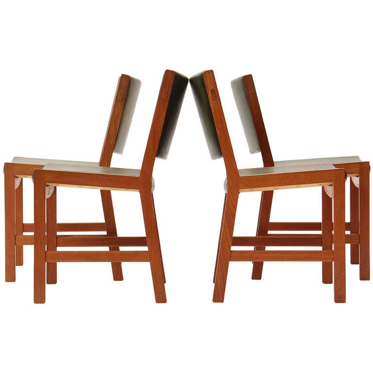 Set of Four Teak Dining Chairs by Hans Wegner For Sale
