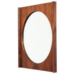 Rosewood Wall Mirror by Bruksbo