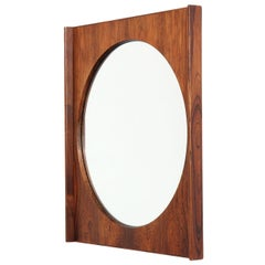 Rosewood Wall Mirror by Bruksbo