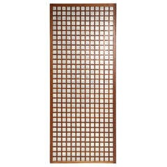 Walnut and Capiz Gridded Panel
