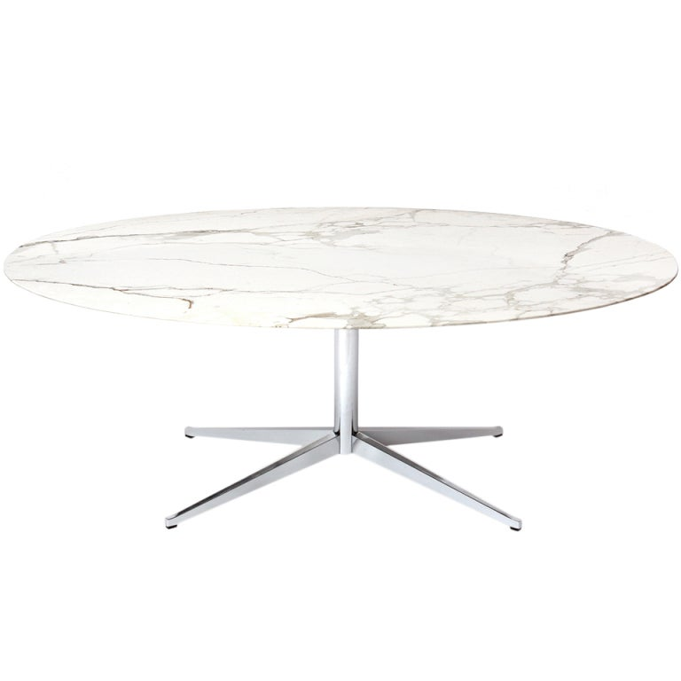 Pedestal Dining Table By Florence Knoll At 1stdibs