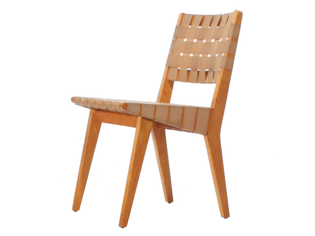 Jens Risom Side Chair Webbed Birch Side Chair Set By Jens Risom For Sale At 1stdibs