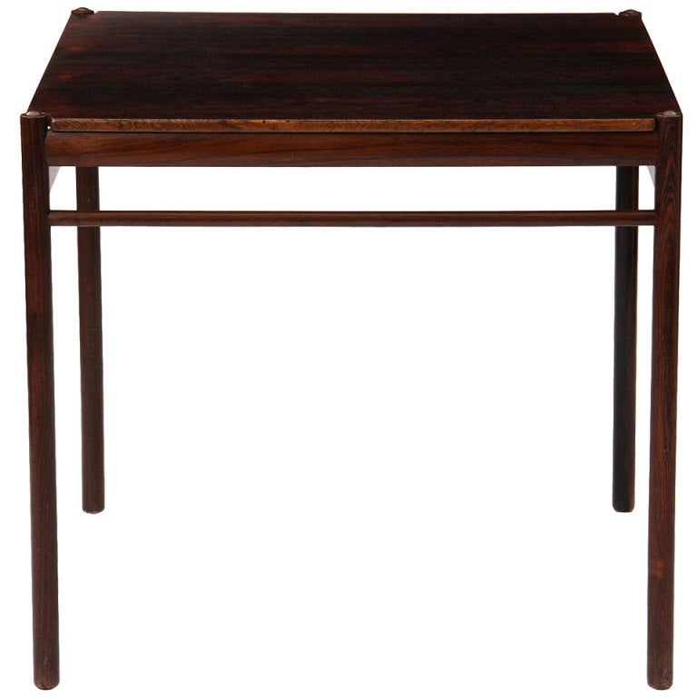 Rosewood Game Table by Ole Wanscher