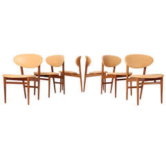 Set of Six Teak Dining Chairs by Jacob Kjaer